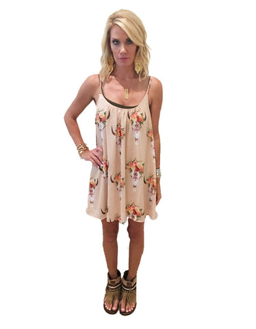 Show Me Your Mumu Trapeze Mini Dress in Frida Bullhead
