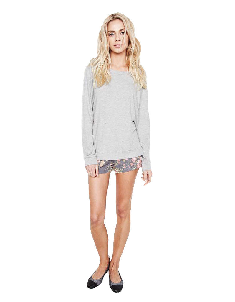 Michael Lauren Eddy Sweat Short in Hanna Rose and Heather Grey - SWANK - Shorts - 1