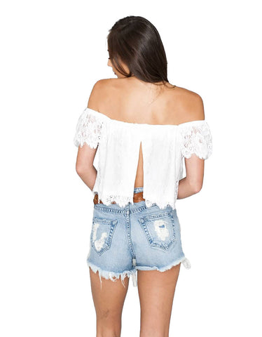 Show Me Your Mumu Ella Top Spring Fling Lace in White