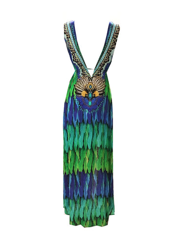 Shahida Parides Embellished Long Dress in Nightfall