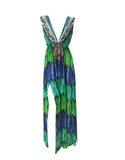 Shahida Parides Embellished Long Dress in Nightfall - SWANK - Dresses - 1