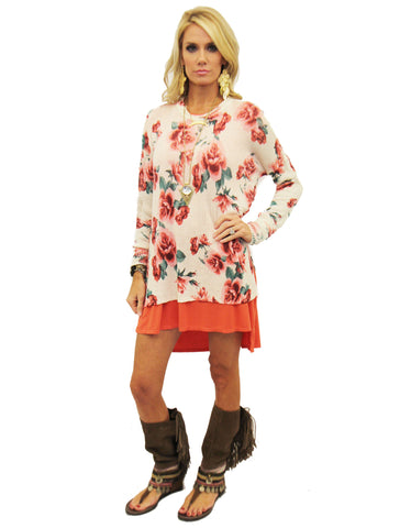 Show Me Your Mumu Bonfire Sweater in Romuntic Rose