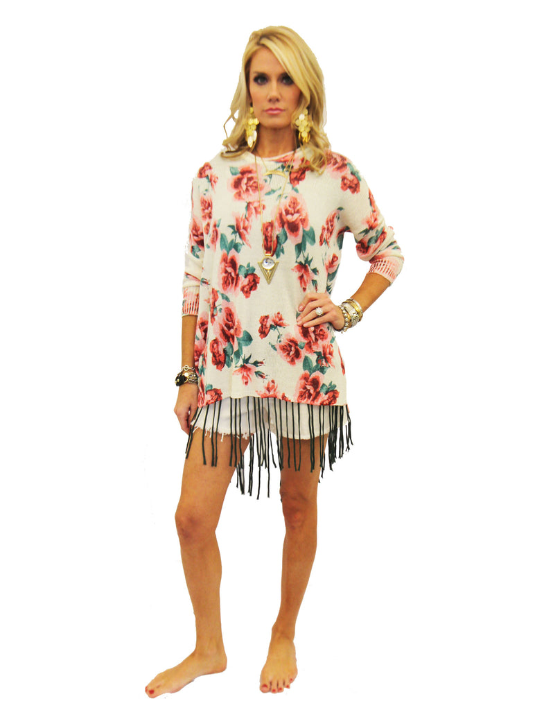 Show Me Your Mumu Bonfire Sweater in Romuntic Rose - SWANK - Tops - 3