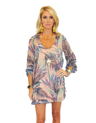 Show Me Your MuMu Donna Michelle Tunic in Palm Funday