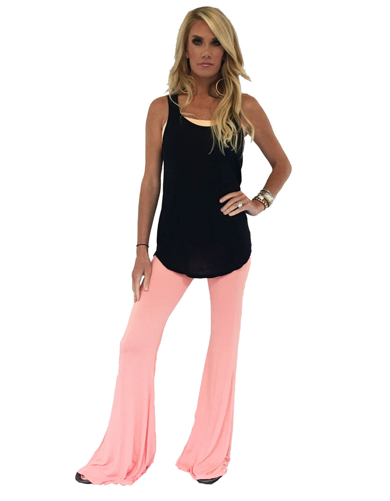 Michael Lauren Mars Bell Pant in Pink Salmon - SWANK - Pants - 1