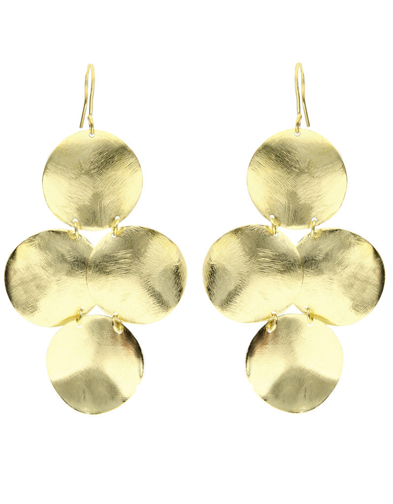 Emily Big Disc Earring in Silver **An Emily Dees Boulden Design** - SWANK - Jewelry - 5