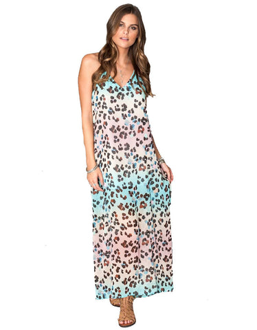 Show Me Your Mumu Eryln Maxi Dress in Cheetahpop