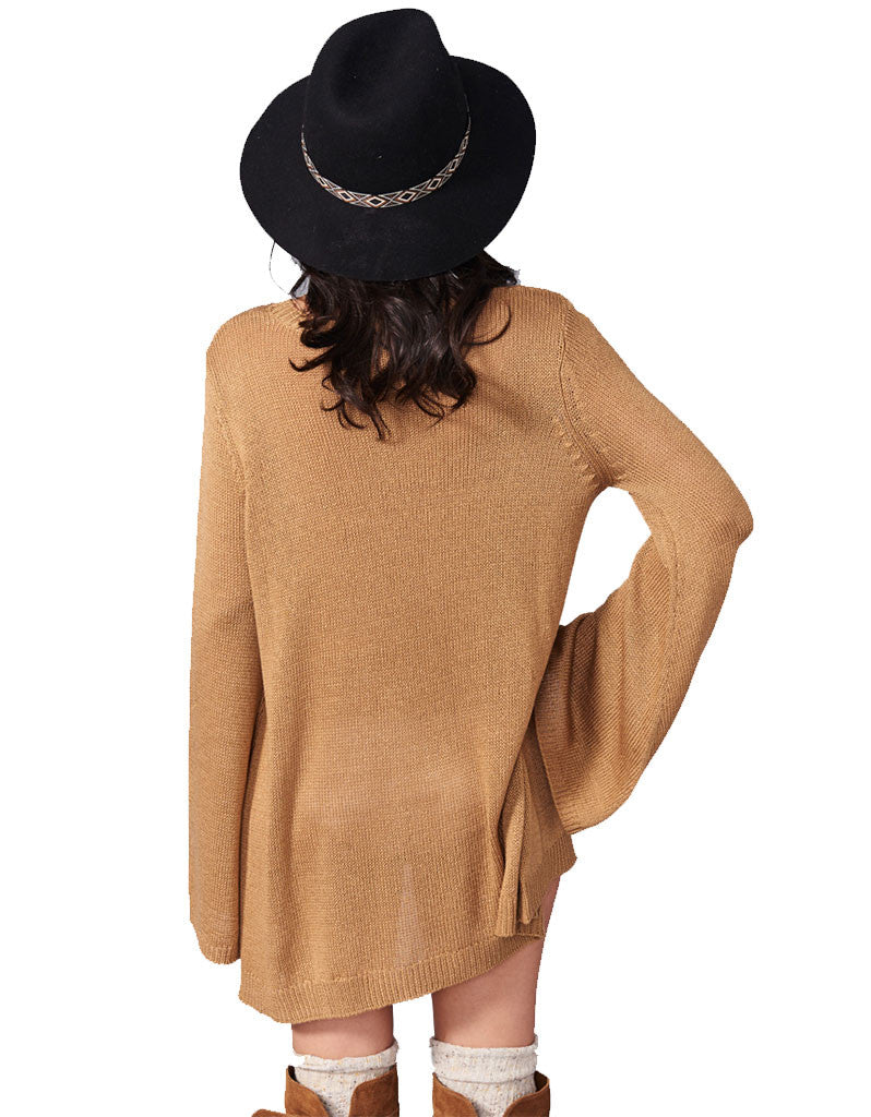 Show Me Your Mumu Festibell Sweater in Camel - SWANK - Tops - 3