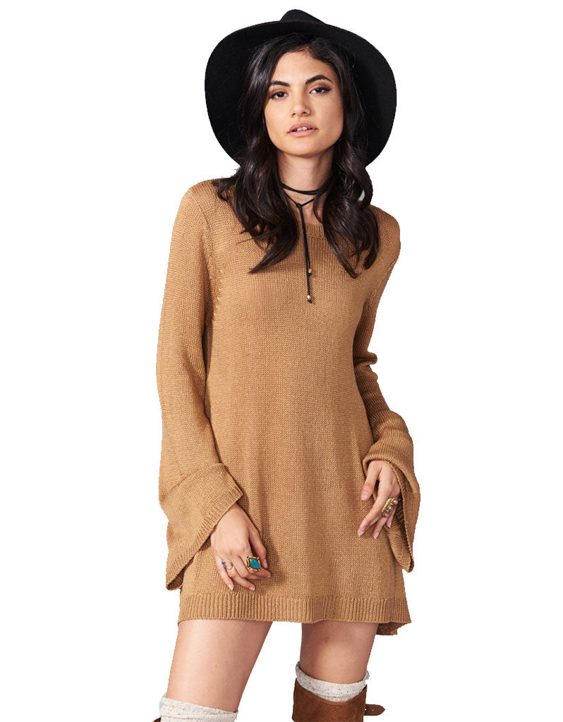 Show Me Your Mumu Festibell Sweater in Camel - SWANK - Tops - 1