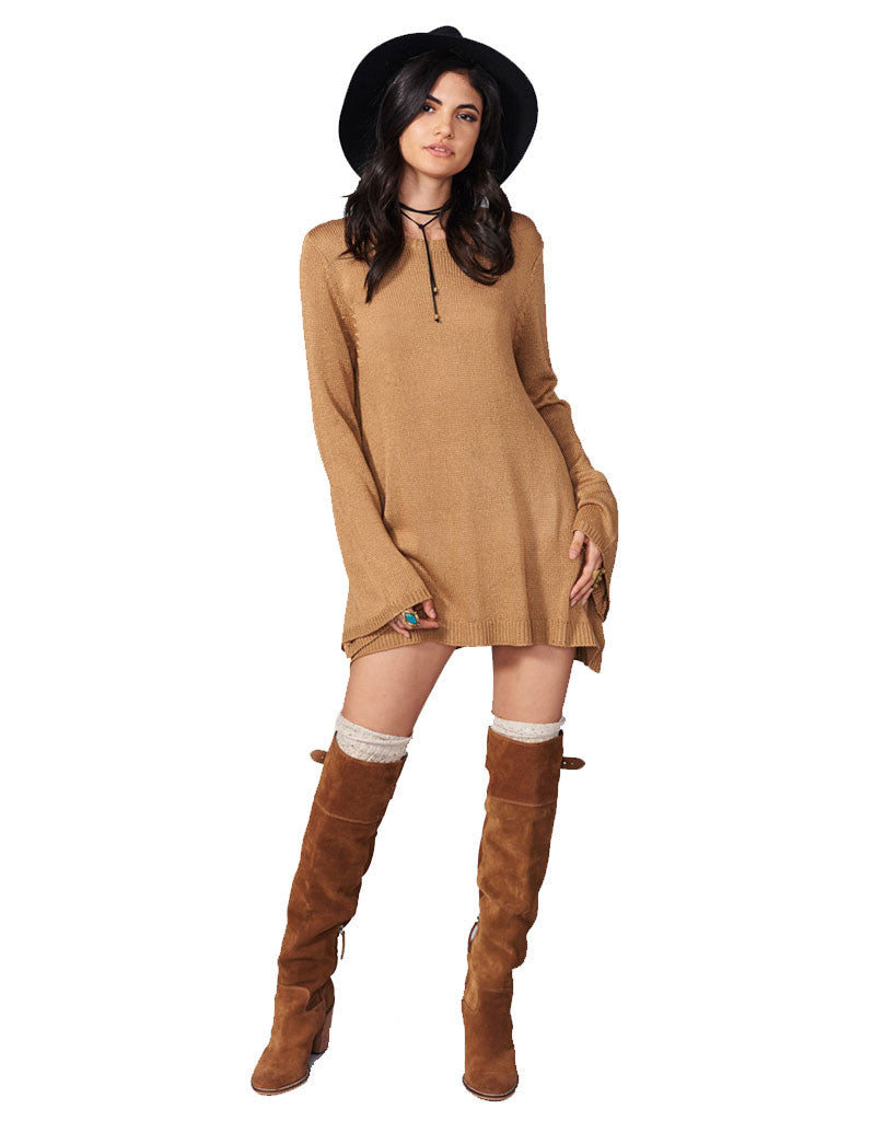 Show Me Your Mumu Festibell Sweater in Camel - SWANK - Tops - 4