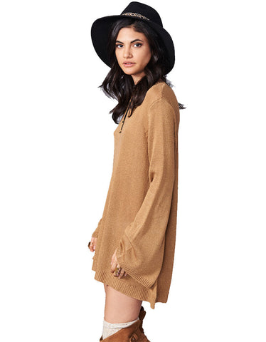 Show Me Your Mumu Festibell Sweater in Camel