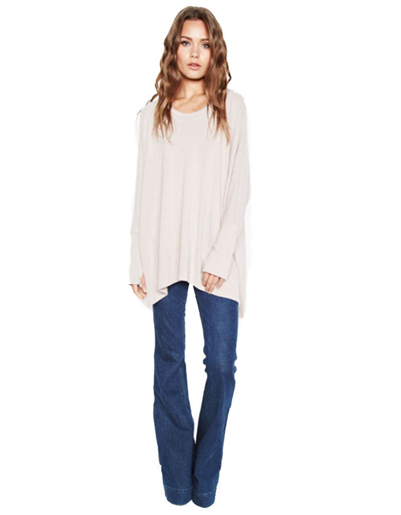 Michael Lauren Flint Oversized Pullover in Oatmeal - SWANK - Tops - 2