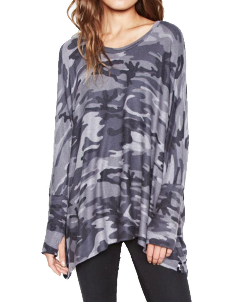 Michael Lauren Flint Oversized Pullover in Asphalt Camo - SWANK - Tops - 2
