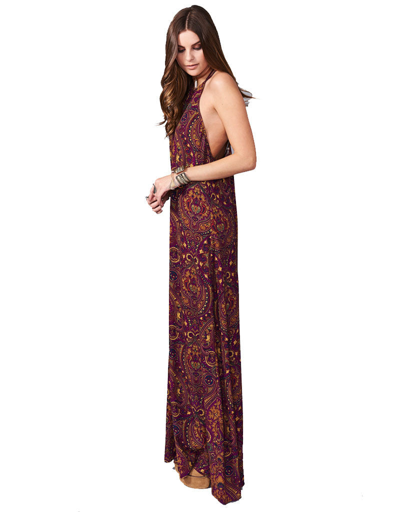 Show Me Your Mumu Flirtini Maxi Dress in Princess Plum - SWANK - Dresses - 2