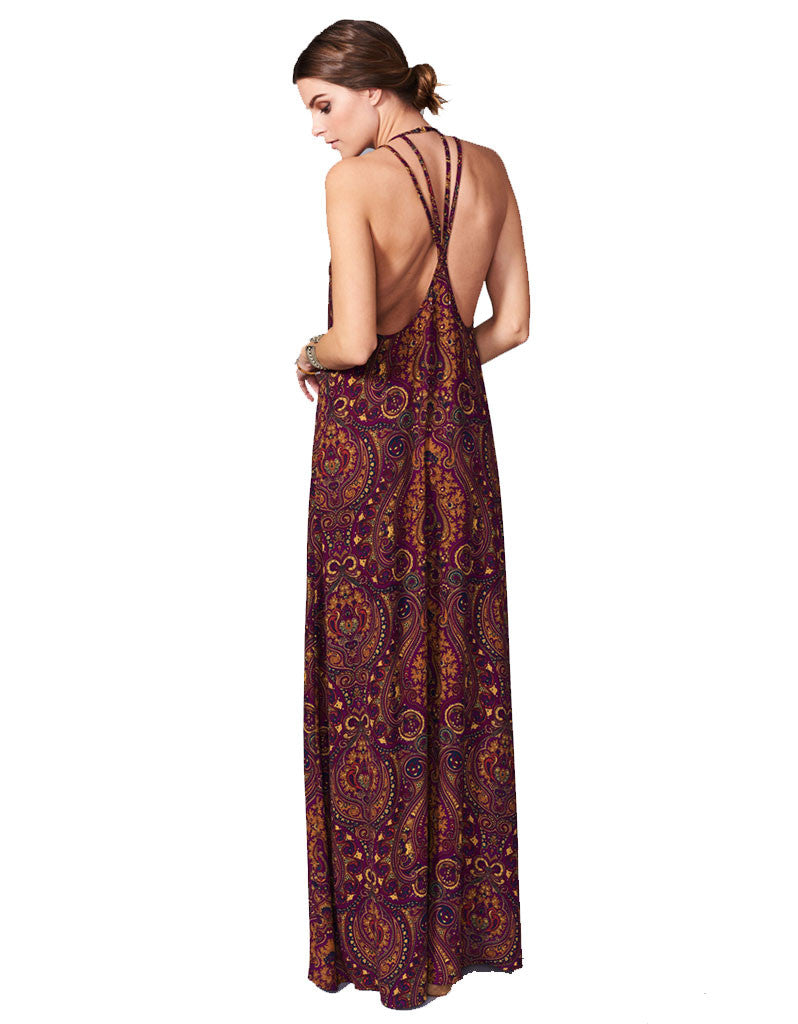 Show Me Your Mumu Flirtini Maxi Dress in Princess Plum - SWANK - Dresses - 3