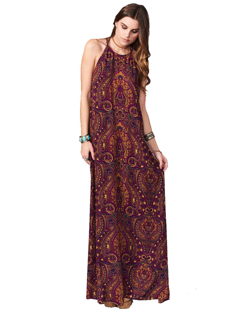 Show Me Your Mumu Flirtini Maxi Dress in Princess Plum - SWANK - Dresses - 1