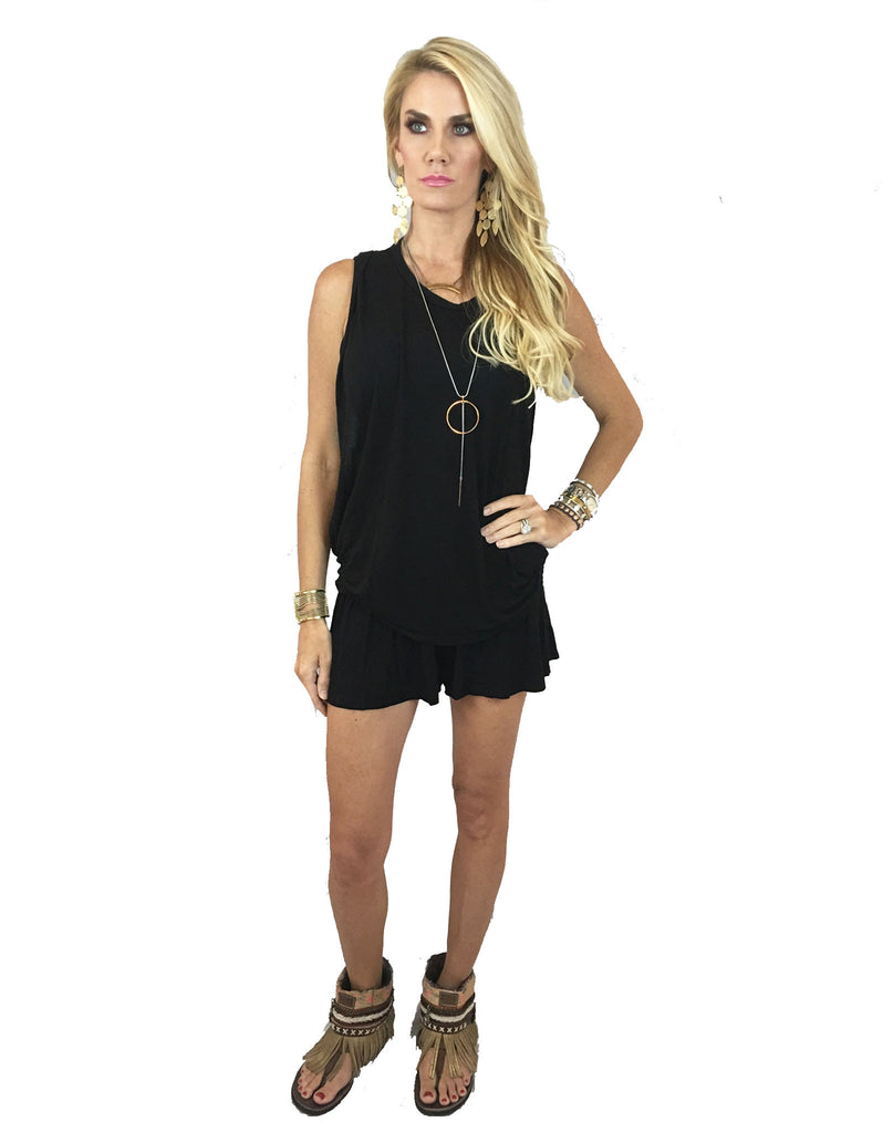 Michael Lauren Fox Smocked Short in Black - SWANK - Shorts - 4