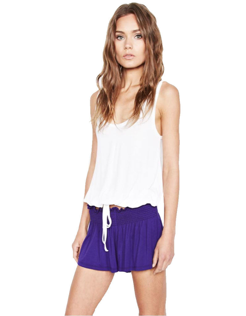 Michael Lauren Fox Smocked Short - SWANK - Shorts - 1
