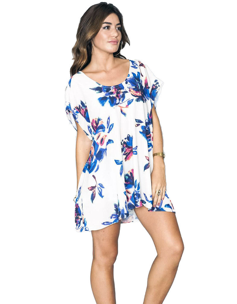 Show Me Your Mumu Frankie Tunic in Petal Paint - SWANK - Tops