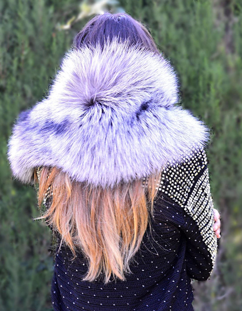 Fur Collar in Silver - SWANK - Outerwear - 2