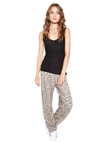 Michael Lauren George Supersoft Sweatpant in Tan Leopard