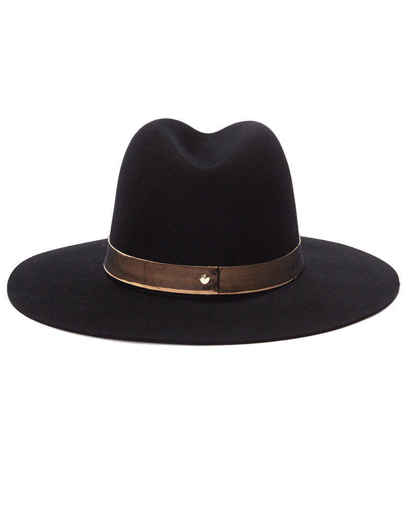 Janessa Leone Georgia Black Hat - SWANK - Hats - 2