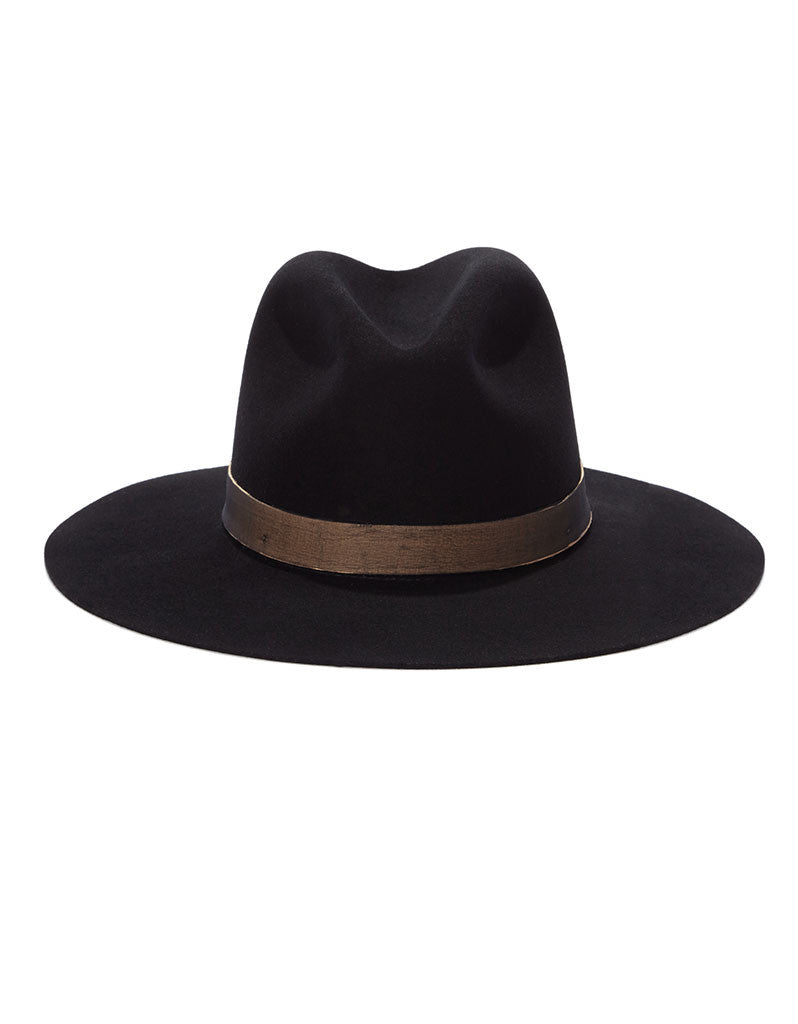 Janessa Leone Georgia Black Hat - SWANK - Hats - 1