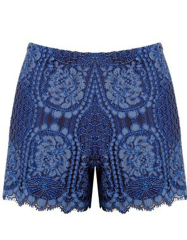 Alexis Gigi Lace Shorts in Passionate Blue