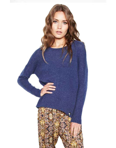 Michael Lauren Grant Cashmere Sweater in Navy