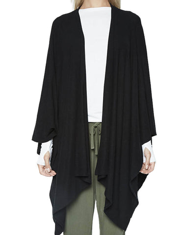 Michael Lauren Giuseppe Blanket Wrap in Jet Black