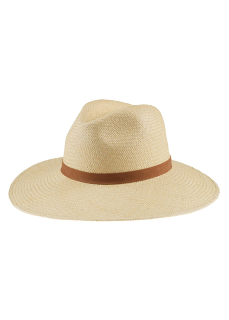 Janessa Leone Gloria Panama Straw Hat in White - SWANK - Hats - 1