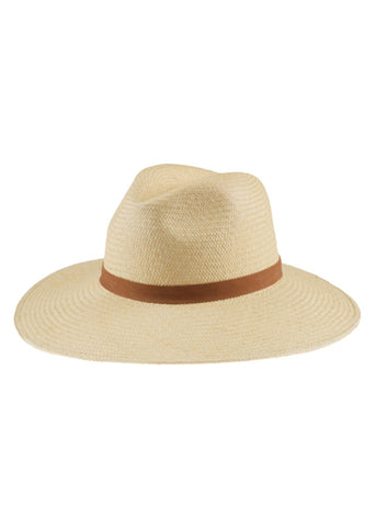 Janessa Leone Gloria Panama Straw Hat in White