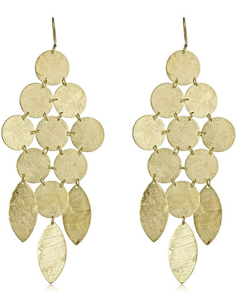 Chandelier Earrings in Gold - SWANK - Jewelry - 2