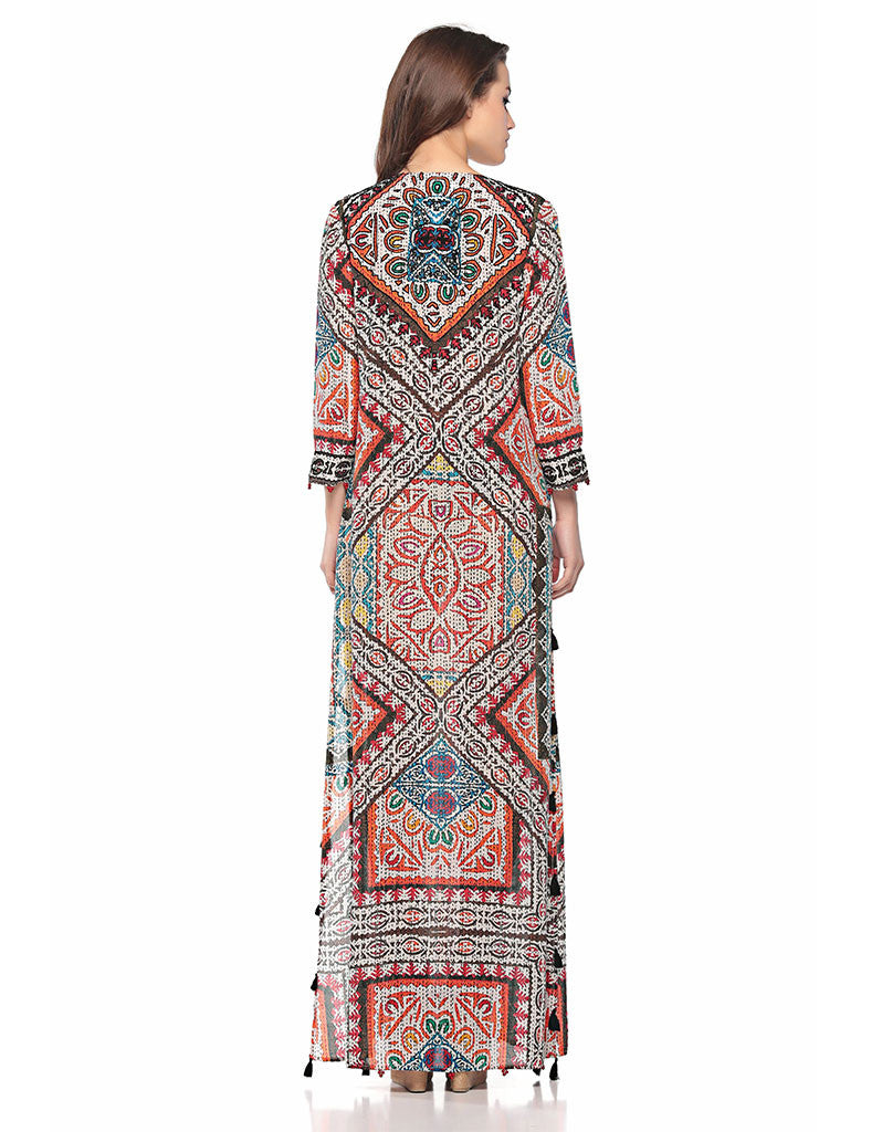 Hemant and Nandita Rili Art Long Dress - SWANK - Dresses - 2
