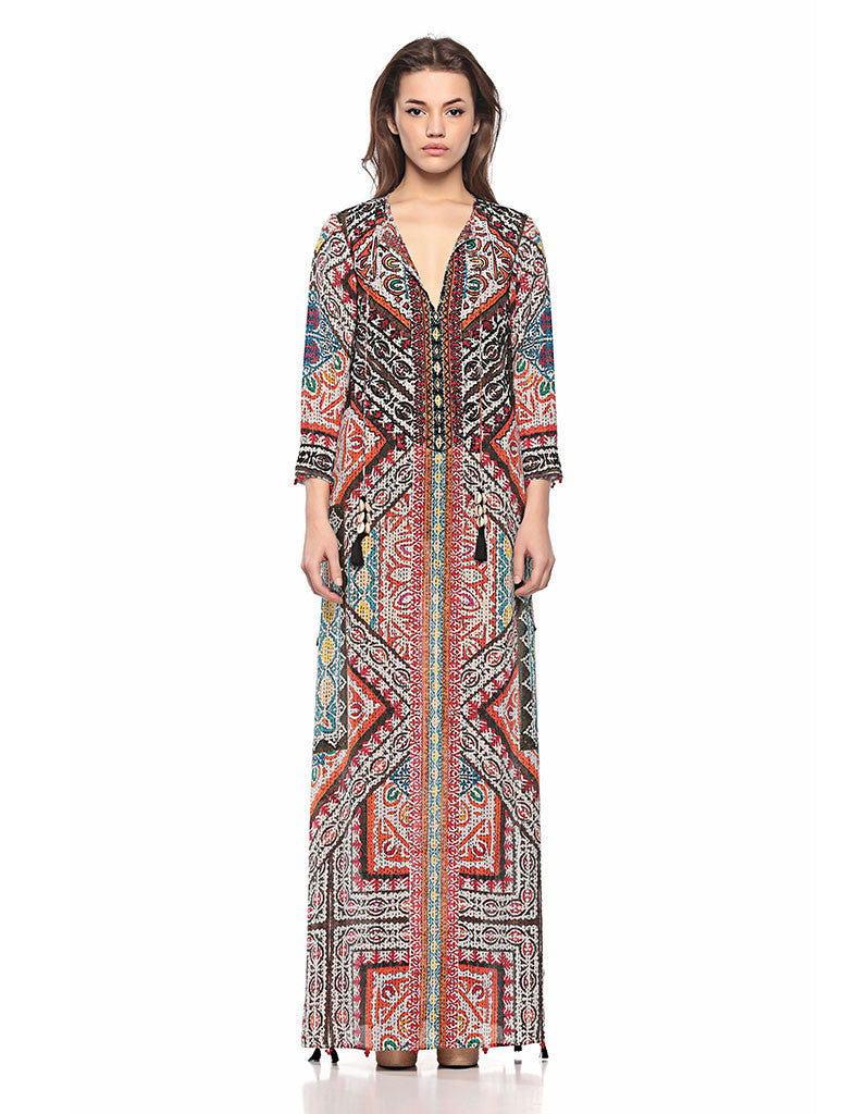 Hemant and Nandita Rili Art Long Dress - SWANK - Dresses - 1
