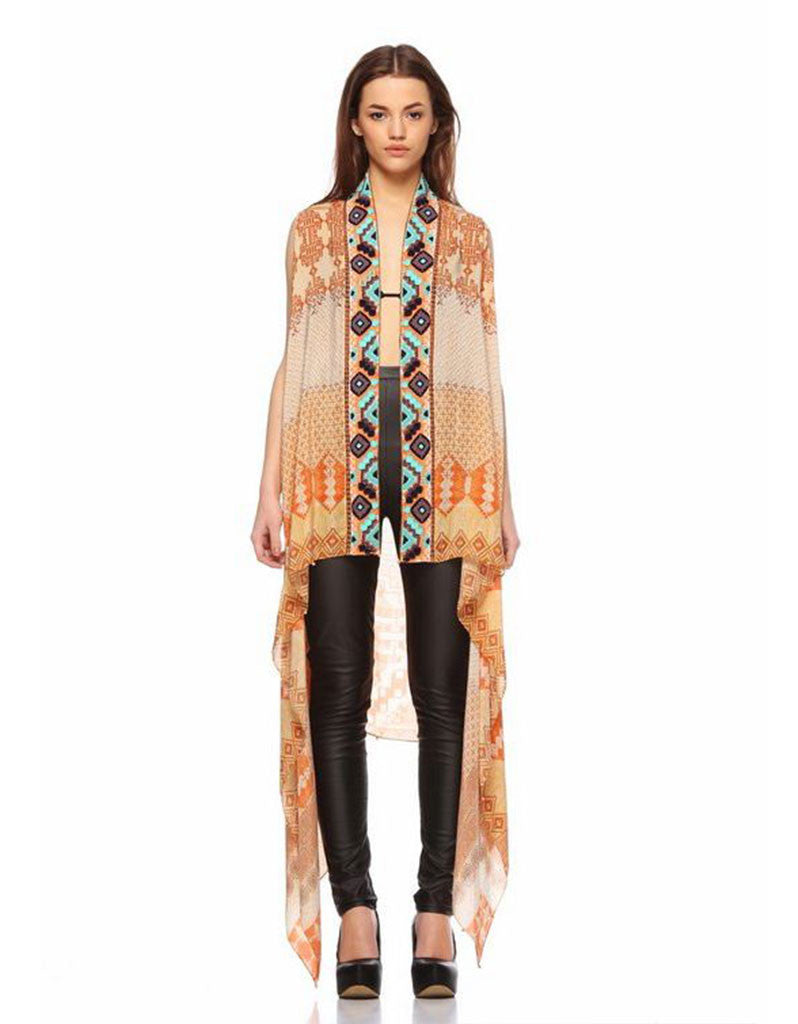Rococo Sand Mexico Sand Embroidered Cape - SWANK - Jacket - 1