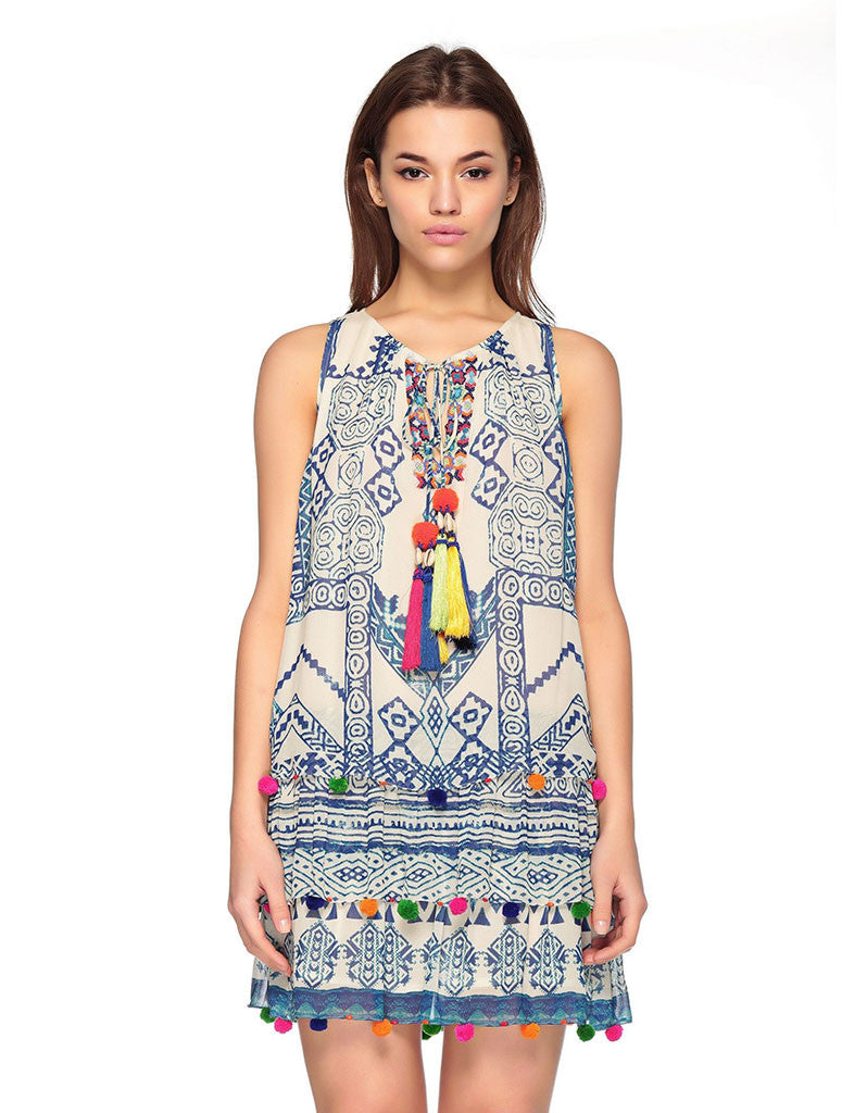 Hemant and Nandita Hmong Short Dress - SWANK - Dresses - 1