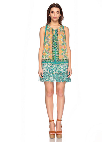 Hemant and Nandita Vintage Tile Short Dress
