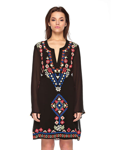 Hemant and Nandita Homegrown Aztec Tunic