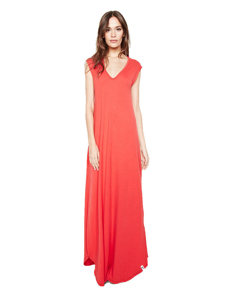 Michael Lauren Henderson Maxi Dress in Gypsy Red - SWANK - Dresses - 1