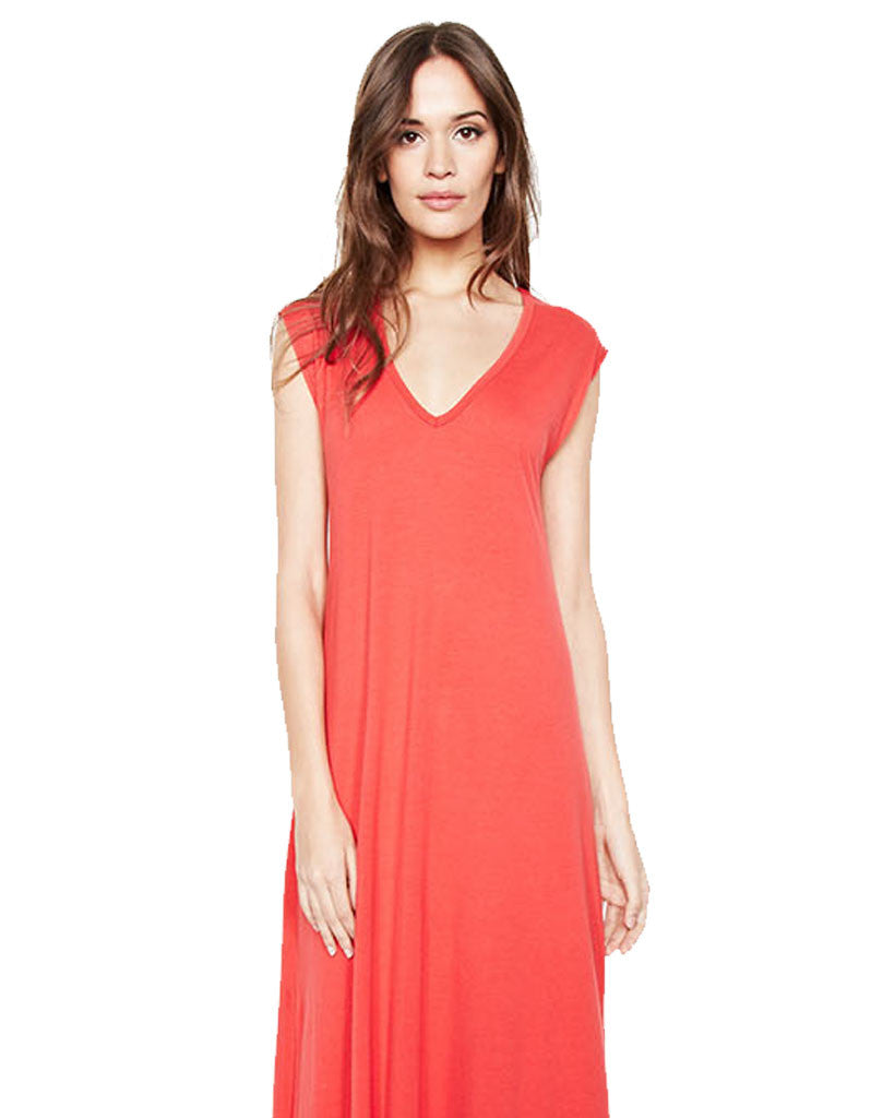 Michael Lauren Henderson Maxi Dress in Gypsy Red - SWANK - Dresses - 2
