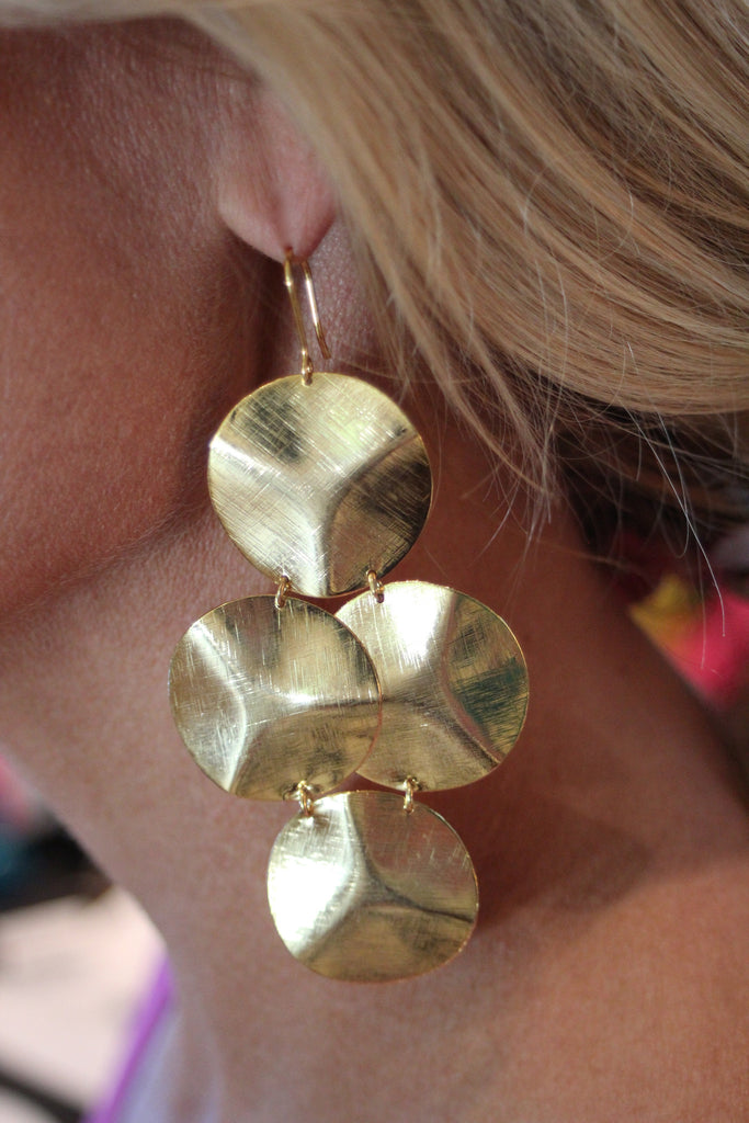 Emily Big Disc Earring in Silver **An Emily Dees Boulden Design** - SWANK - Jewelry - 6