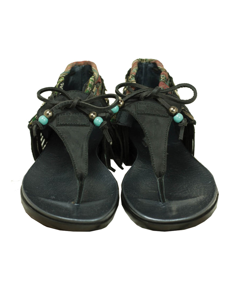 INDIE BOHO SANDALS - BLACK - SWANK - Shoes - 8