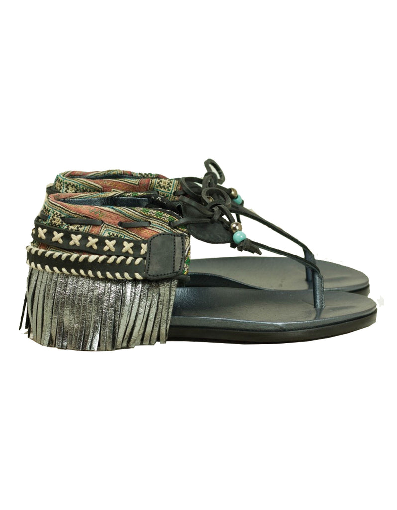 INDIE BOHO SANDALS - BLACK - SWANK - Shoes - 9