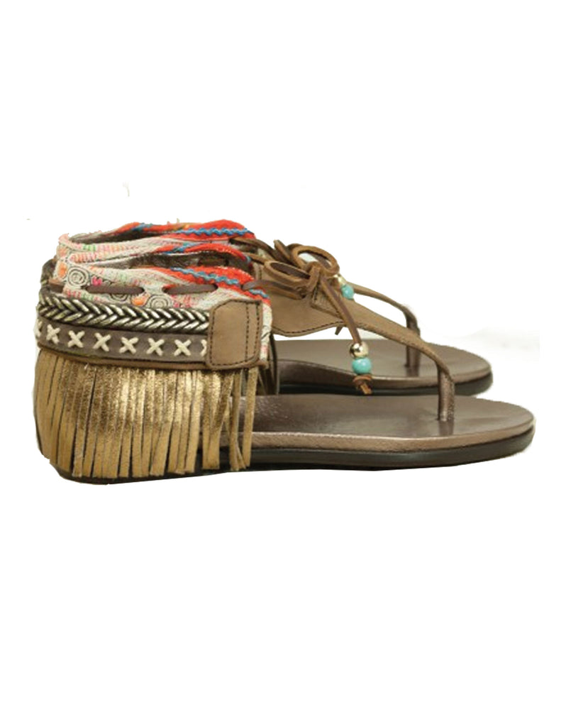 INDIE BOHO SANDALS - BROWN - SWANK - Shoes - 11