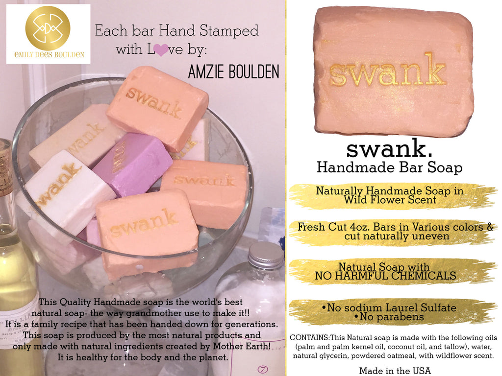 Swank Handmade All Natural Soap- 5 Bars - SWANK - other - 5