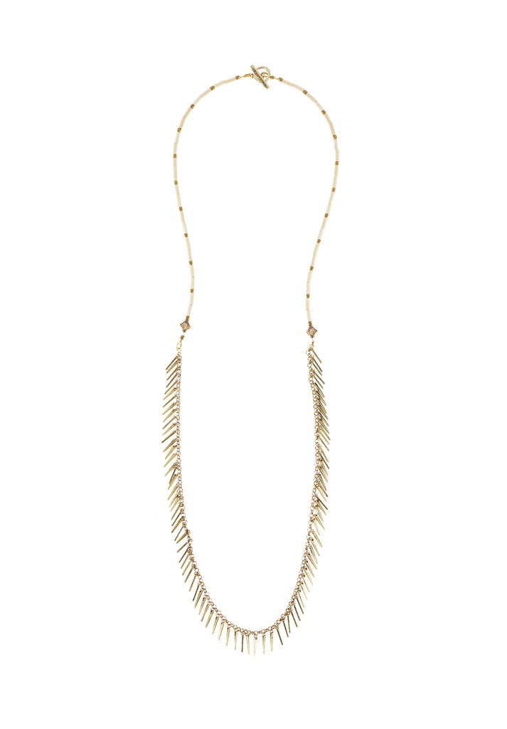 Jenny Bird Palm Rope Necklace in Natural - SWANK - Jewelry