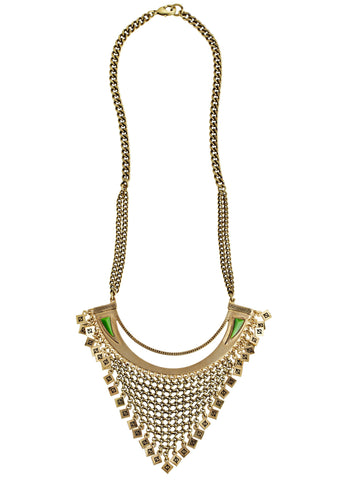 Jenny Bird Crescent Moon Bib Necklace