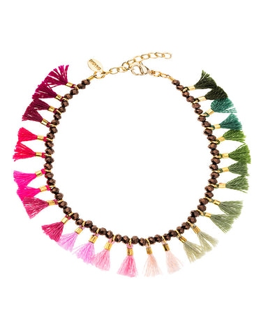Shashi Ombre 3 Row Bracelet in Wine/Cobalt