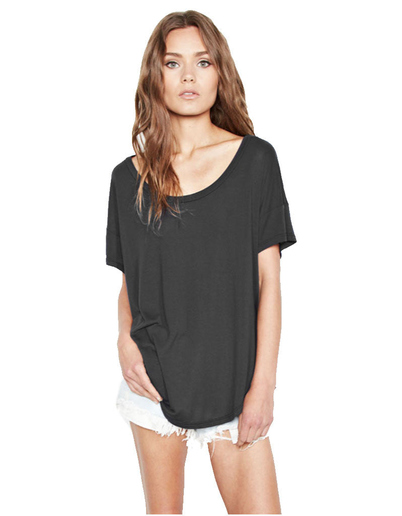 Michael Lauren Jan Scoop Neck Tee - SWANK - Tops - 2